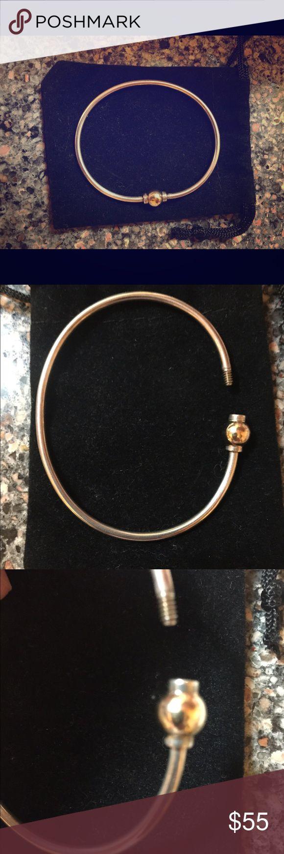 Cape Cod Ss & 14k Gold Bangle Bracelet