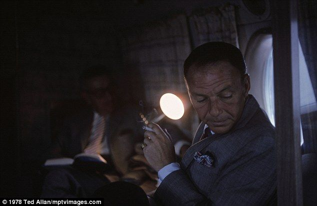 Height of fame: Sinatra heading toward the Cal Neva Lodge by private plane-1978.