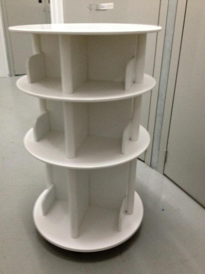 White Rotating Bookcase On Wheels Things I Want For My
