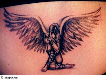 25 best ideas about guardian angel tattoo on pinterest angels tattoo memory tattoos and. Black Bedroom Furniture Sets. Home Design Ideas