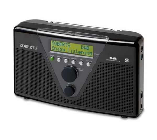 ROBERTS  DuoLogic Portable DAB Radio - Black, Black Price: £ 69.99 Use the great-looking, black Roberts DuoLogic Portable DAB Radio wherever you go - it operates on mains power as well as batteries! Radio your heart out! The efficient switch-mode power supply - coupled with the option of using rechargeable batteries - makes this one eco-friendly radio as well. The 1.1kg Duo Logic Portable DAB...