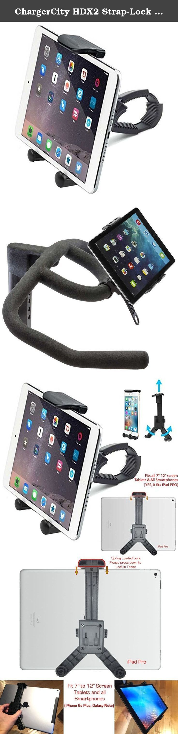 ChargerCity HDX2 Strap Lock Mount for Bicycle Treadmill Exercise Spin Bike Helm Handlebar w