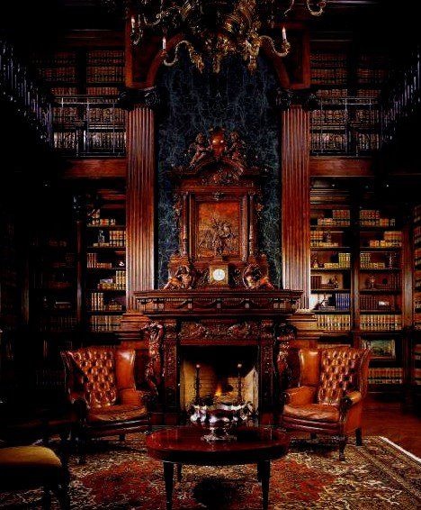 moustachioed:  gntstyle:  Your average living room… No playstation needed, just a pipe, a smoking jacket and a Labrador and a P.G.Wodehouse book of course! Jeeeves! Pour some tea, will you…  No, this is where you entertain your nemeses before smiting them. Jeeves is still there, but he's an expert in Krav Maga as well as tea. The dog is a robot. But the pipe and smoking jacket are just that. Though the pipe is made of the femur of your last archenemy to infiltrate your lair, and the…