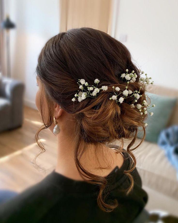 Wedding bridesmaid hair romantic, boho, bridal updo