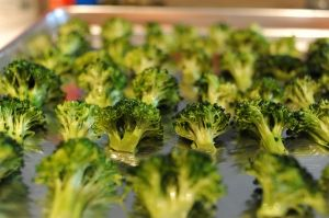 EVERYONE loves this broccoli!!! Crispy broiled goodness! Works with any veggies.. we also love to do Brussels Sprouts