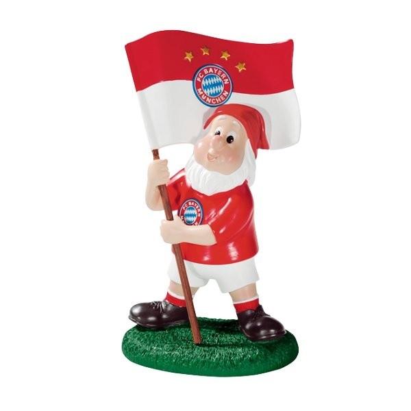 Gartenzwerg mit Fahne FC Bayern München - #Bundesliga, #Soccer, #Fanartikel, #Bekleidung, Fußball - http://www.multifanshop.de