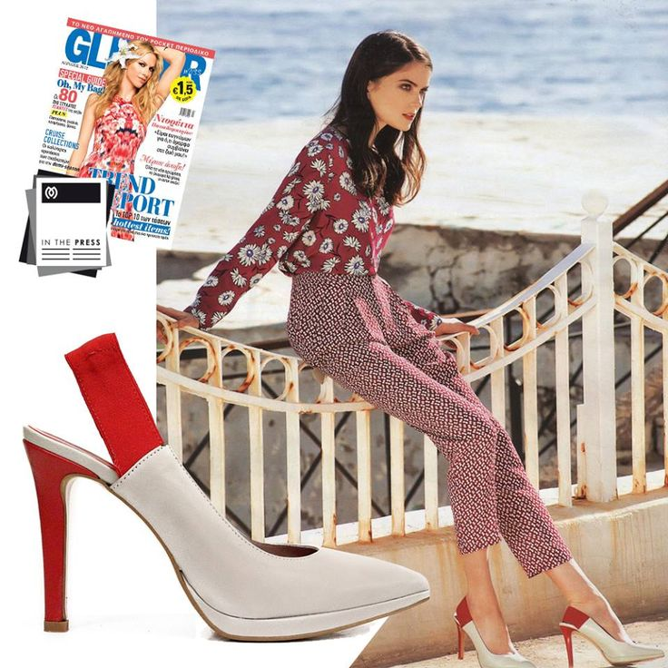 Miss Glitter Magazine, April Issue feat.  #MIGATO AP1510 Light Grey Leather Pumps.