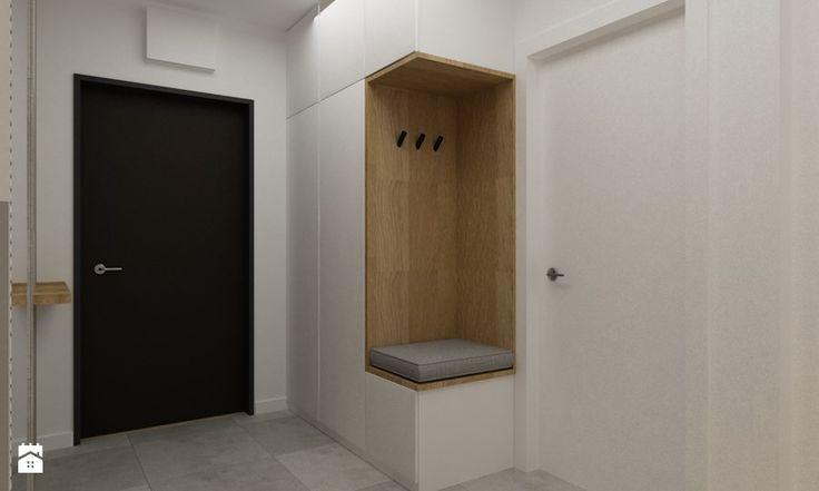 kabaty metamorfoza 60m2 - Hol / przedpokój, styl skandynawski - zdjęcie od Grafika i Projekt architektura wnętrz