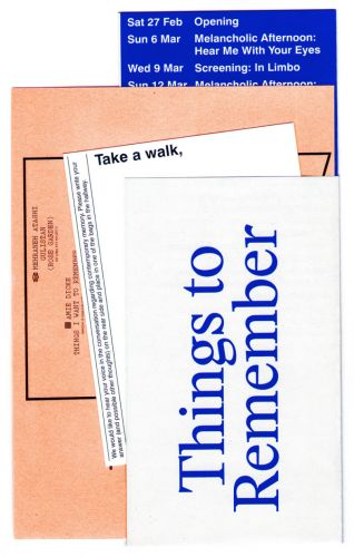 Things to Remember (Page Not Found)