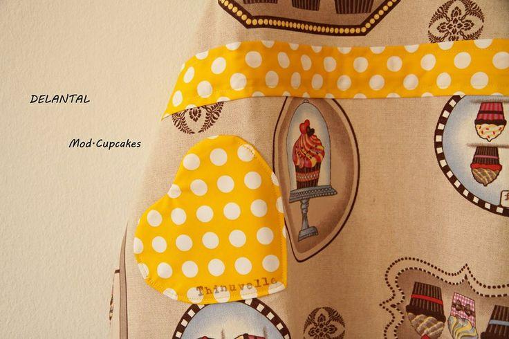 Delantal Cupcakes detalle