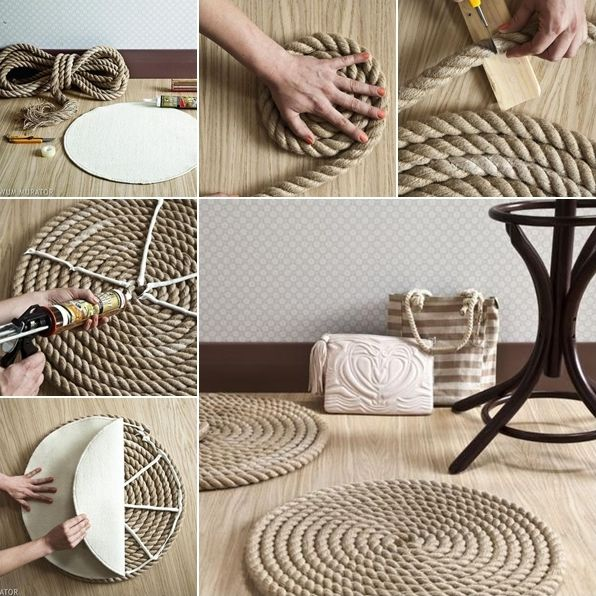 Easy Rope Rug for a Nautical Touch in Your Living Room