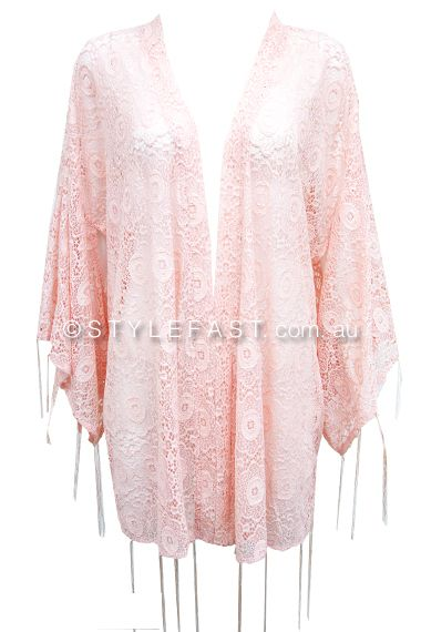 Pink Frosting Lace Cape #stylefast