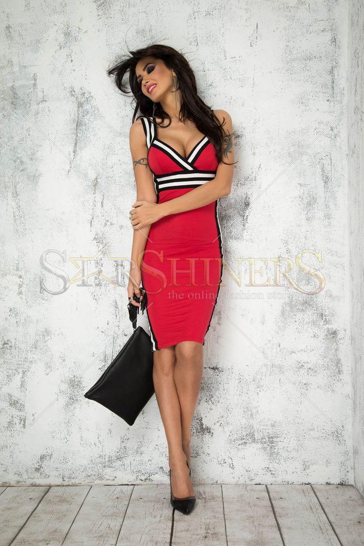 Mexton Hot Rebound Red Dress
