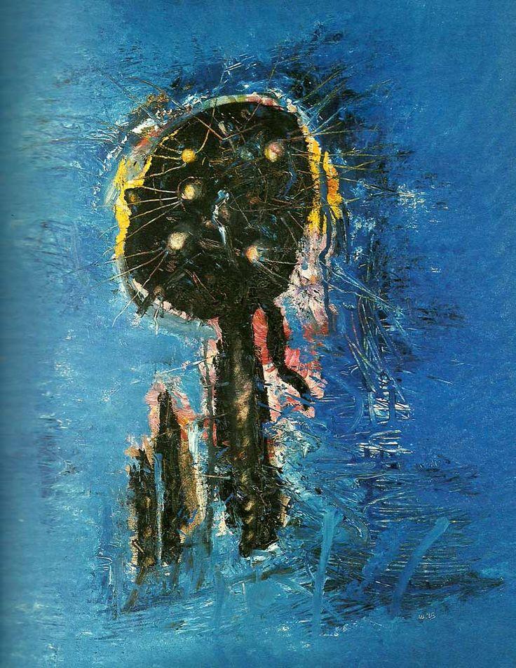 Informalismo (reaccion europea al expresionismo abstracto) Alfred Otto Wolfgang Schulze, llamado Wols para abreviar su nombre. Un alemán que se fué a Francia después de la segunda guerra mundial, lo hicieron preso y pasó penurias de postguerra. Una vida rota y trastocada, y una muerte penosa. Las pinturas del Tachismo se datan entre 1940 y 1950.
