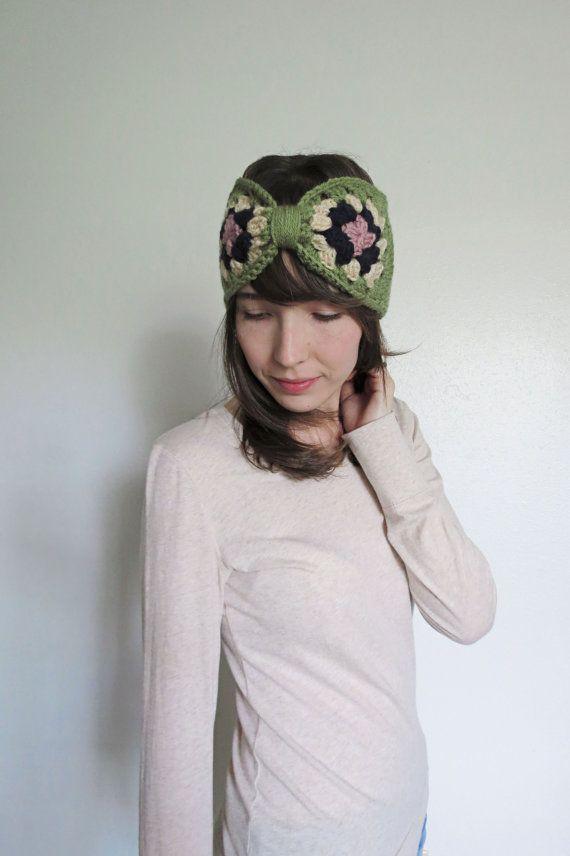 Crochet Earwarmer Womens Turban Headband by AllisonLynnHandcraft