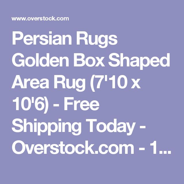 Persian Rugs Golden Box Shaped Area Rug (7'10 x 10'6) - Free Shipping Today - Overstock.com - 19136279 - Mobile