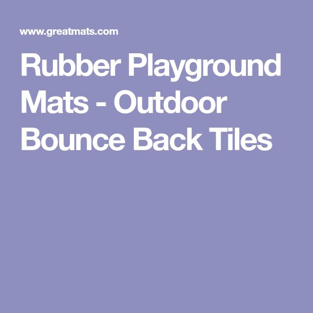 Rubber Playground Mats - Outdoor Bounce Back Tiles