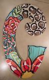 Flower initial door hanger - C
