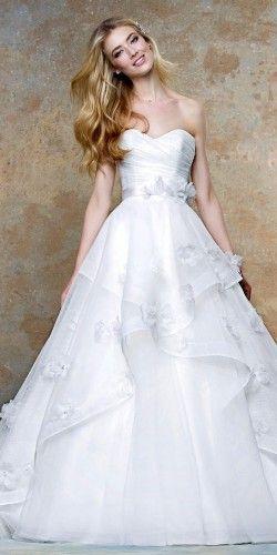 floral applique wedding gowns