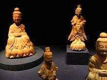Wikipedia Information Picture shows Seated Buddhas and bodhisattvas from Wono-ri, Goguryeo.