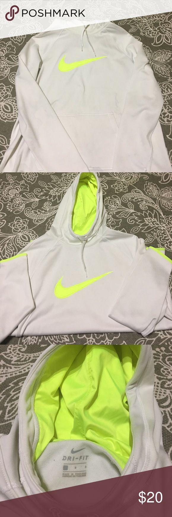 White fleece hoodie Nike fleece hoodie. Gently used. Sz: Ladies M Nike Tops Sweatshirts & Hoodies