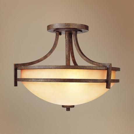 """Oak Valley Collection 18"""" Wide Ceiling Light Fixture, $150, great reviews, entry light, has matching flush mount"""