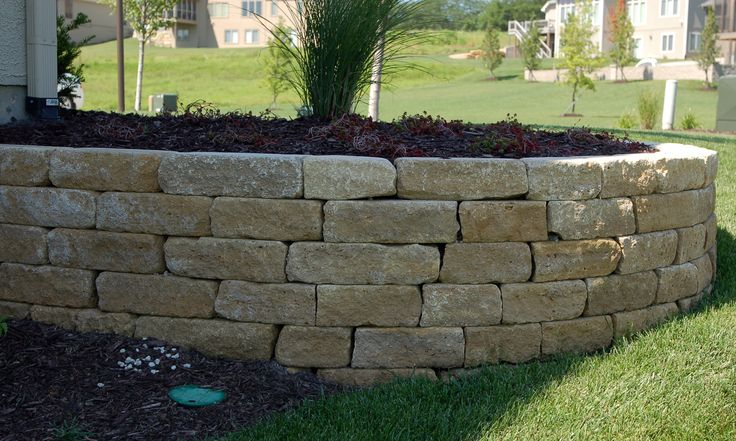 Landscaping With Limestone Blocks : Best images about perimeter landscaping on