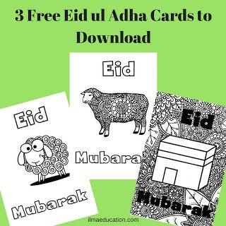 ILMA Education's EDUPARENTING: 3 Free Eid ul Adha Cards to Download
