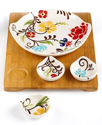 Vida by Espana Dinnerware, Jardine 5 Piece Entertaining Set - Casual Dinnerware - Dining & Entertaining - Macy's