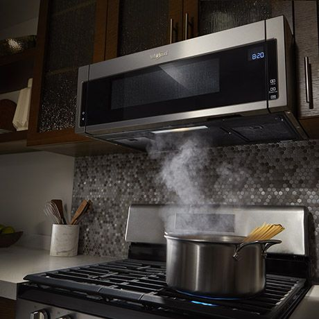 Whirlpool Over Range Microwave 1 1cu Foot 397 80 At Home Depot Microwave Hood Range Microwave Kitchen Vent