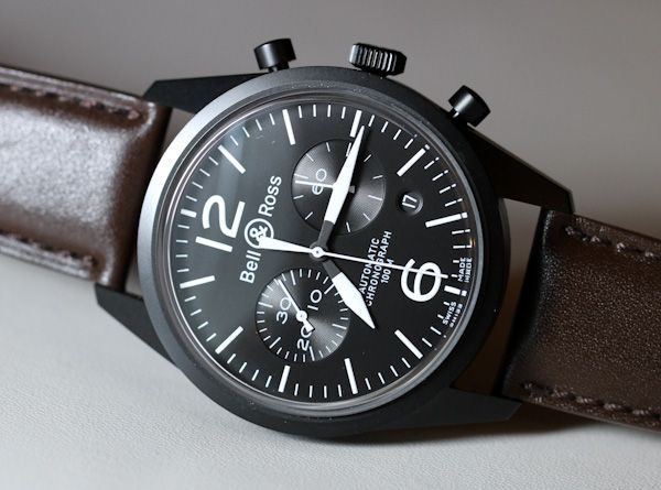 Not a fan of current B&R but this vintage original in black PVD and dark brown leather strap is pretty cool