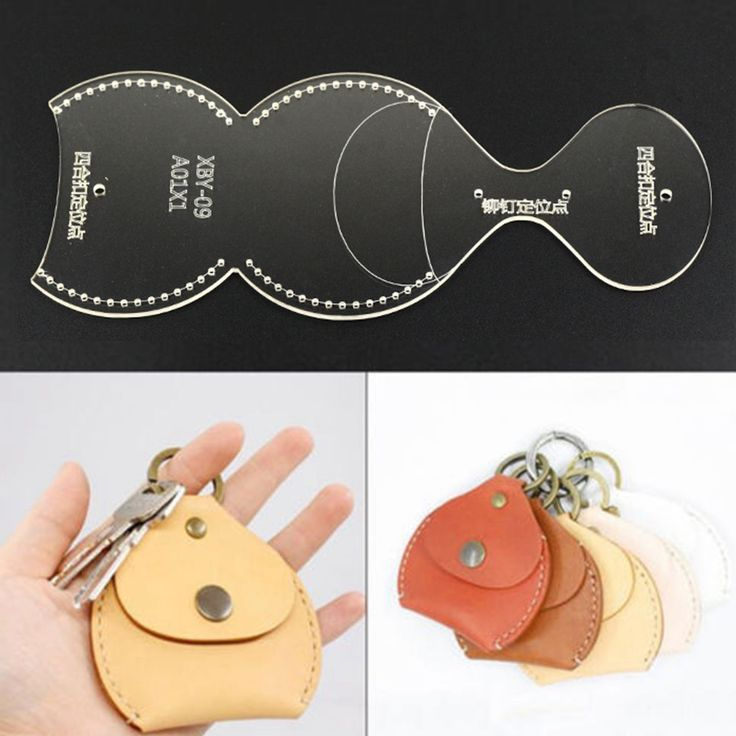 LEATHER CRAFT CLEAR Acrylic Perspex Coin Purse Pattern Stencil Template Tool DIY…