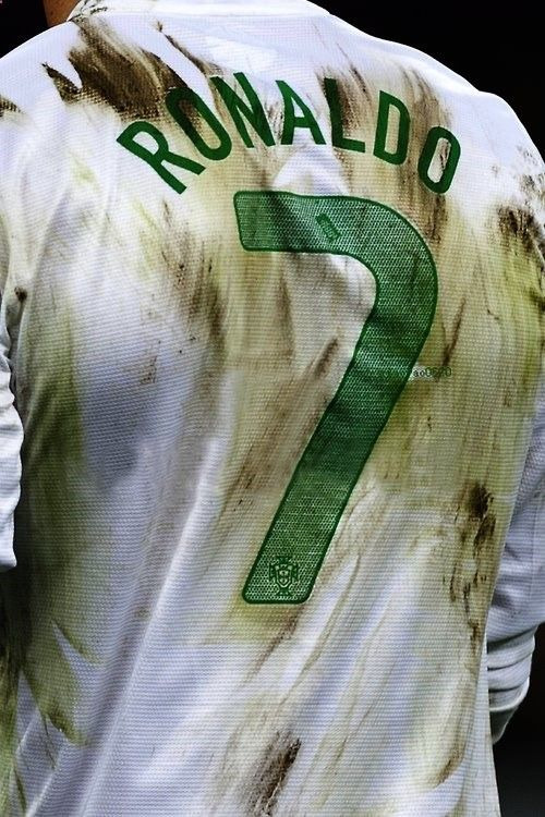 To play REAL soccer the shirt has to be dirty and a number 7 HAS to be in the back.
