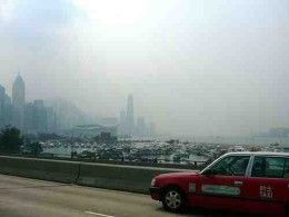 Nitrogen dioxide pollution at toxic levels in Hong Kong.