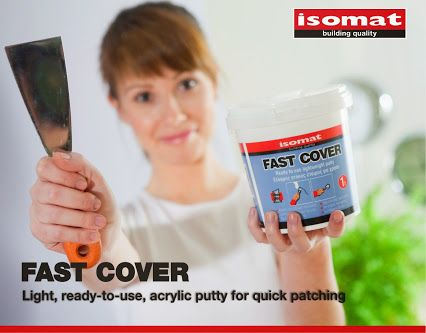 Are you moving? #Renovating? FAST-COVER is your best ally! The light, ready-to-use, acrylic putty by ISOMAT is ideal for quick patching of holes and cracks on the walls with just one application.