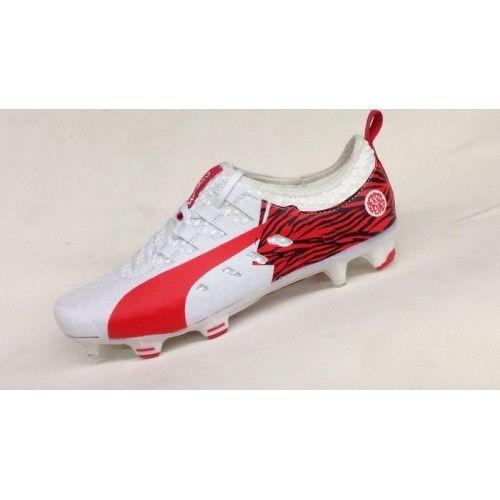Comprar Puma evoPOWER Vigor 1 SG FG Blanco Rojo Botas De Futbol