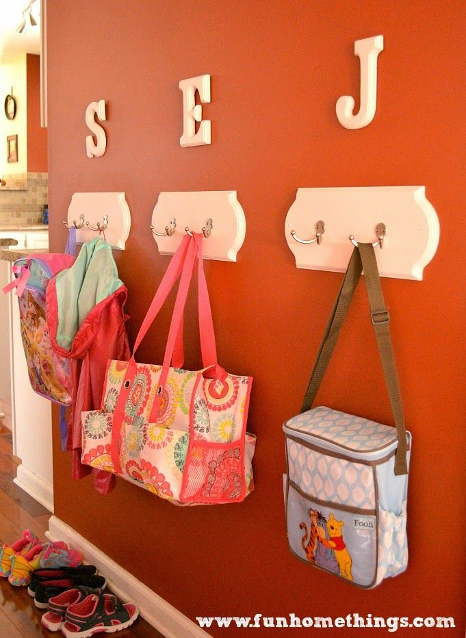Easy weekend project--DIY Coat Racks