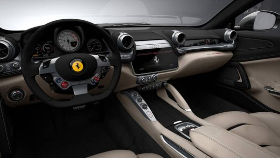 Интерьер суперкара Ferrari GTC4Lusso 2016 / Феррари GTC4Lusso 2017