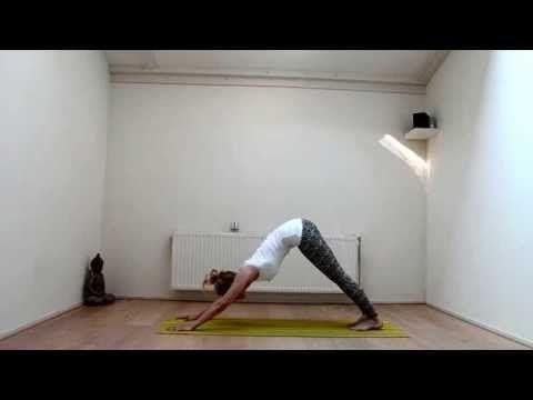 Zonnegroet A met instructie in het Nederlands   Hanneke Megens - YouTube