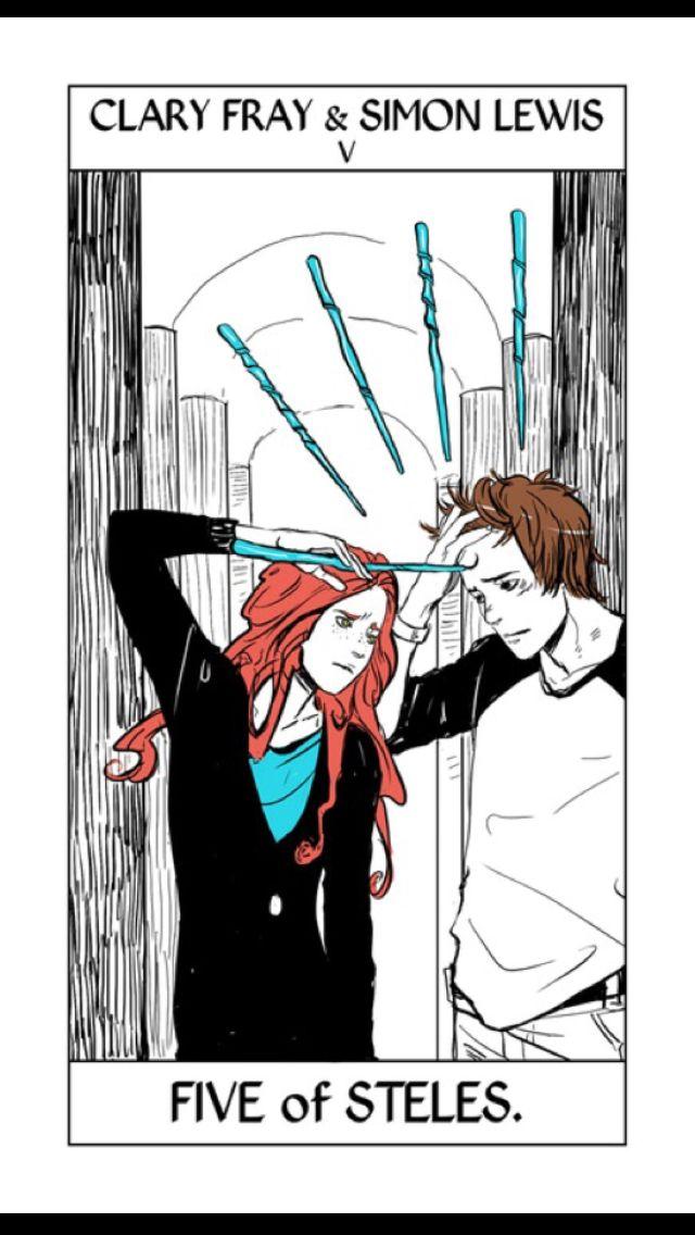 Clary Fray and Simon Lewis - Cassandra Jean Tarot cards ...