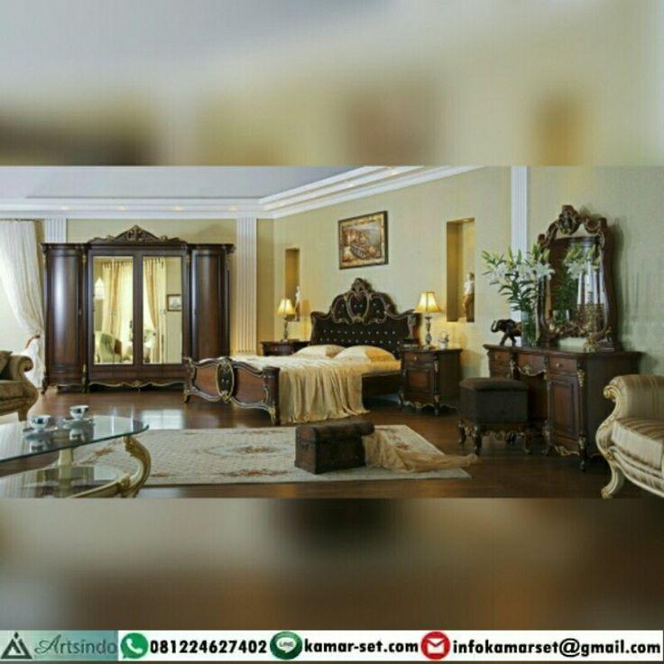 Model kamar set klasik mewah brown hp 310 desain terbaru jual kamar set klasik mewah brown hp 310 untuk kamar utama dan pengantin nama kamar set klasik