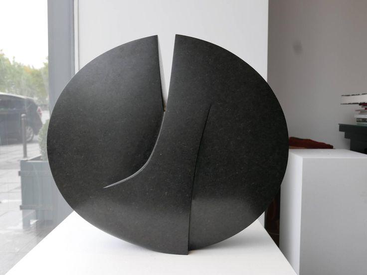 Michel Lucotte - Michel Lucotte Black Granite Sculpture For Sale at 1stdibs