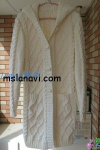 Пальто спицами с капюшоном | Вяжем с Ланой ОПИСАНИЕ http://mslanavi.com/2013/11/palto-spicami-s-kapyushonom/