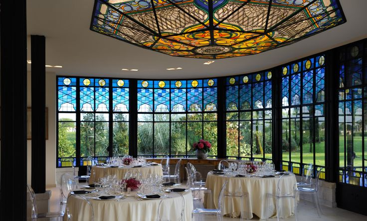 Salle à manger - verrière à l'hôtel Château Pape Clément (près de Bordeaux)