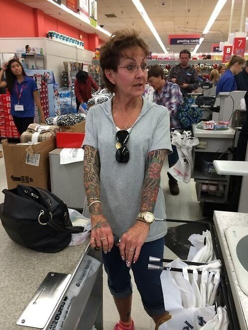tattooed old lady tumblr - Google Search