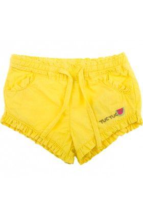 Sárga vászon rövidnadrág