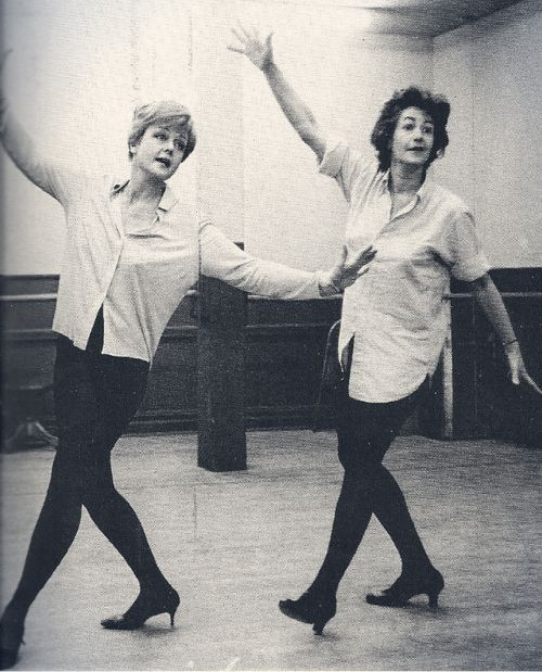 Angela Lansbury and Bea Arthur, rehearsing for the original Broadway production of Mame. 1966.