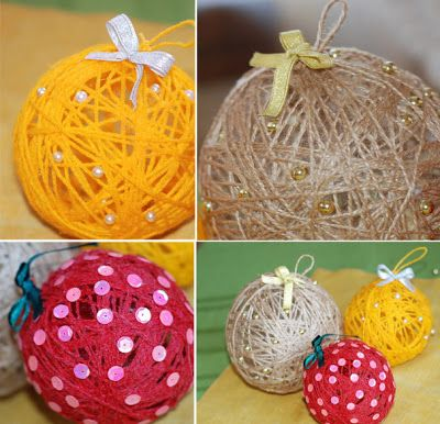 Bolas de natal feitas com barbante e bexiga - Pra Gente Miúda: Christmas Crafts, Yarns Ornaments, Winter Crafts, Crafts Day, Two People, Christmas Baubles, Christmas Color, Diy Christmas Ornaments, Diy Projects