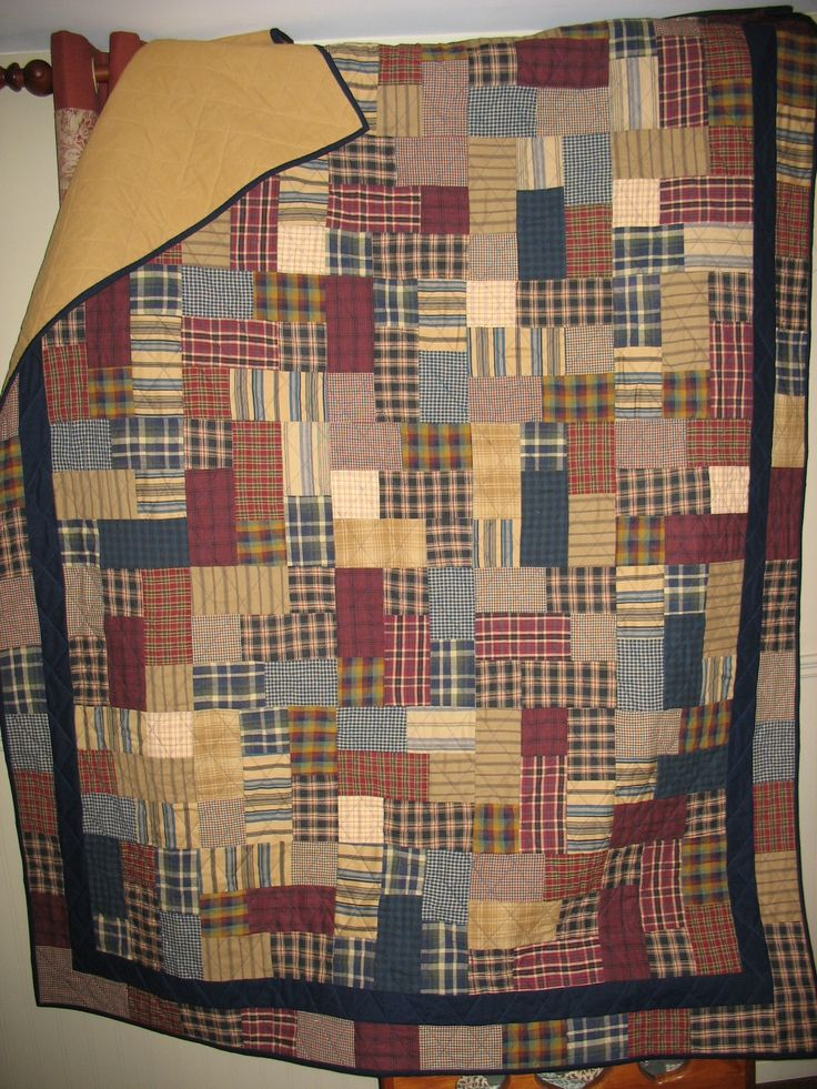17 Best Images About Men S Plaid Shirt Quilts On Pinterest