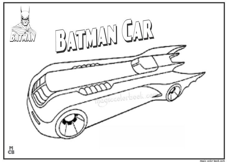 Superhero Batman Batmobile Coloring Sheets Printable Kids: 28 Best Batman Coloring Pages Images On Pinterest